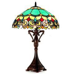 "CHLOE Lighting AUBREY Victorian 2 Light Antique Dark Bronze Table Lamp 18"" Shade"