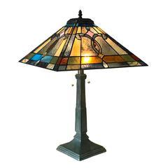 "CHLOE Lighting JONATHAN Mission 2 Light Antique Dark Bronze Table Lamp 16"" Shade"