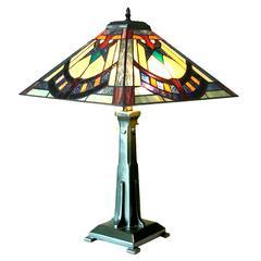 "CHLOE Lighting LOGAN Mission 2 Light Antique Dark Bronze Table Lamp 16"" Shade"