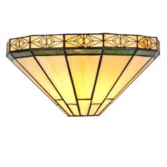 """CHLOE Lighting BELLE Tiffany-style 1 Light Mission Wall Sconce 12"""" Wide"""