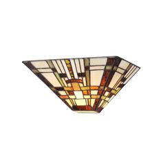 """CHLOE Lighting FARLEY Tiffany-style Mission 1 Light Wall Sconce 12"""" Wide"""