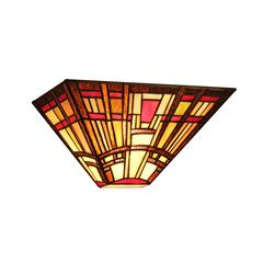 """CHLOE Lighting HOPKINS Tiffany-style Mission 1 Light Wall Sconce 12"""" Wide"""