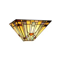 """CHLOE Lighting KINSEY Tiffany-style 1 Light Mission Wall Sconce 12"""" Wide"""