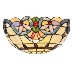 """CHLOE Lighting COOPER Tiffany-style 1 Light Victorian Wall Sconce 12"""" Wide"""