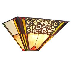 """CHLOE Lighting EVELYN Tiffany-style 1 Light Indoor Wall Sconce 12"""" Wide"""