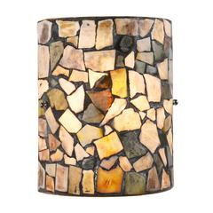 "CHLOE Lighting SANDY Mosaic 1 Light  Indoor Wall Sconce 8"" Wide"