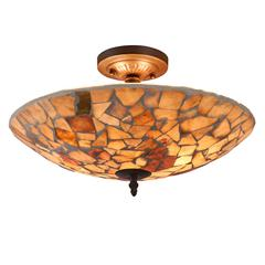 "CHLOE Lighting KAI Mosaic 2 Light Semi-flush Ceiling Fixture 16"" Shade"
