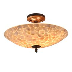 "CHLOE Lighting SALLY Mosaic 2 Light Semi-flush Ceiling Fixture 16"" Shade"