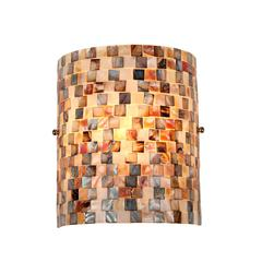 "CHLOE Lighting SHELLEY Mosaic 1 Light Wall Sconce 8.3"" Wide"