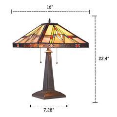 "MANNIX Mission 2 Light Blackish Bronze Table Lamp 16"" Wide"