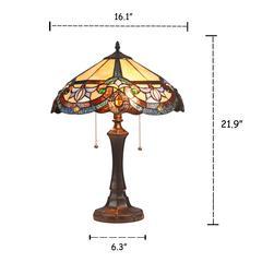 "CAROLINE Victorian 2 Light Dark Bronze Table Lamp 16"" Wide"