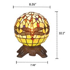 "DEMOISELLE Mosaic 1 Light Dark Bronze Accent Lamp 8"" Wide"