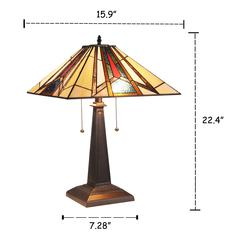 """MAXWELLMission 2 Light Blackish Bronze Table Lamp 16"""" Wide"""