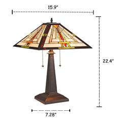 """NORMAN Mission 2 Light Blackish Bronze Table Lamp 16"""" Wide"""