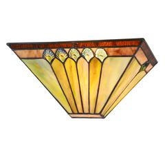 """CHLOE Lighting GRAHAM Tiffany-style 1 Light Mission Indoor Wall Sconce 12"""" Wide"""