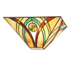 """CHLOE Lighting ORSON Tiffany-style 1 Light Mission Indoor Wall Sconce 12"""" Wide"""