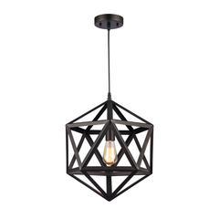 "CHLOE Lighting OSBERT Industrial-style 1 Light Rubbed Bronze Pendant 16"" Wide"