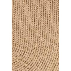 "Rhody Rug Solid Wheat Wool 18"" x 36"" Slice"