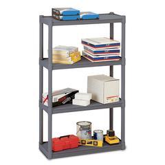 Iceberg Rough 'N Ready 4-Shelf Open Storage Unit, Charcoal