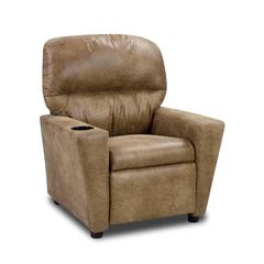 Kid's Recliner with cupholder - Cortez Nougat