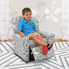 Kid's Recliner with Cupholder - Freehand Storm Twill with Pebbles Seat