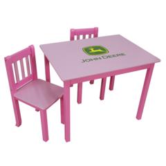 John Deere Table & Chair Set - Pink