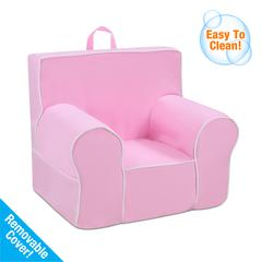 Classic Grab-n-go Kid's Foam Chair with handle - Bubblegum with White