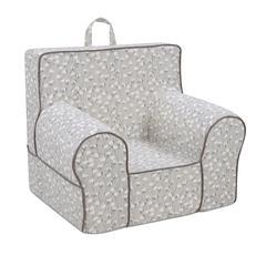 Classic Grab-n-go Kid's Foam Chair with handle - Cotton Belt Cove with Capstone Safari Welt