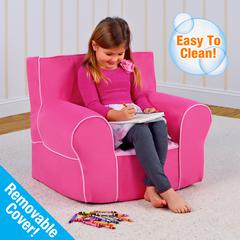 Grab-n-go Kid's  Foam Chair with handle - Passion Pink with Bubblegum Pink