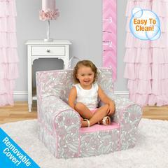 Grab-n-go Kid's Foam Chair with handle - Tribal Pebbles with Bubblegum