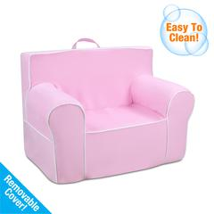 Tween Grab-n-go Foam Chair with handle - Bubblegum with white welt