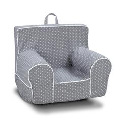 Classic Grab-n-go Kid's Rocker Foam Chair with handle - Mini Dot Storm with White Welt