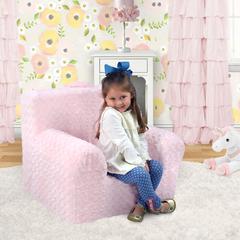 """""""Weston"""" Grab-n-go Kid's Foam Chair with handle - Rose Cuddle Pink"""
