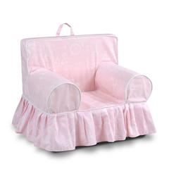Addison Skirted Grab-n-go Kid's Foam Chair with handle - Paris Bella with white welt