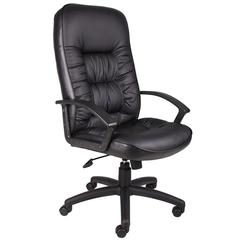 Boss High Back LeatherPlus Chair W/ Knee Tilt