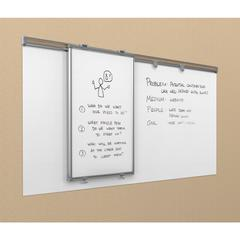 Whiteboard Track System - 8'Track & 1 Hanging Panel & 2 Frog Clips & 4x8 Sharewall