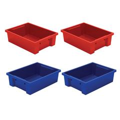 Best-Rite Tubs - Set Of 4 (2 Red, 2 Blue)