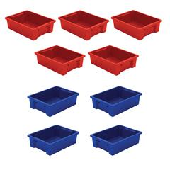 Best-Rite Tubs - Set Of 9 (Mixed Red & Blue)