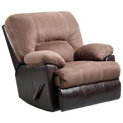 Flash Furniture Exceptional Designs by Flash Laredo Chocolate Microfiber Rocker Recliner
