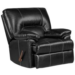 Exceptional Designs by Flash Taos Black Leather Rocker Recliner