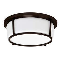 "13"" LED Flush Mount, Bronze Finish"