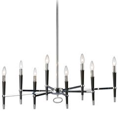8LT Inncandescent Horizontal Chandelier, PC Finish