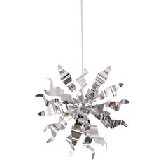 6LT Pendant with Metal Wavelet Ribbons, PC Finish
