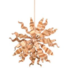 8LT Pendant with Metal Wavelet Ribbons, RG Finish