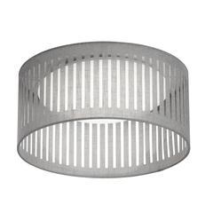 14W Slit Drum LED Flush Mount, Grey