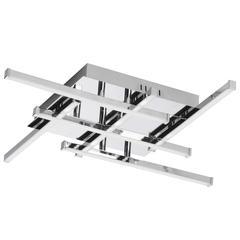 6Lt LED Flush Mount, Polished Chrome