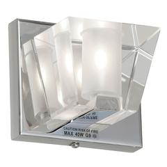 1LT Sconce w/Optical Crystal Shd