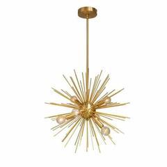 6LT Pendant, Gold & Vintage Bronze Finish