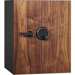 Dbaum Fingerprint Lock Luxury Fireproof Safe with Walnut Door 2.28 cu ft