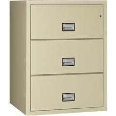 Lateral 31 inch 3-Drawer Fireproof File Cabinet